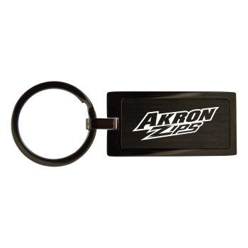 Univeristy of Akron-Black Frost Keychain