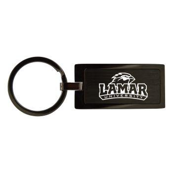 Lamar University-Black Frost Keychain