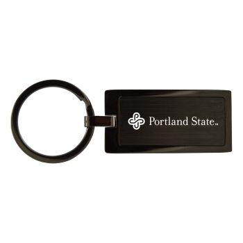 Portland State University-Black Frost Keychain