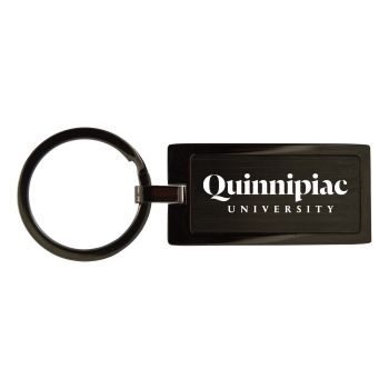 Quinnipiac University -Black Frost Keychain