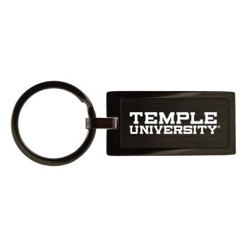 Temple University-Black Frost Keychain