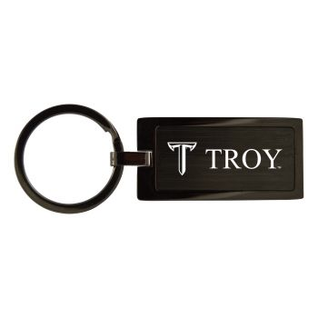 Troy University-Black Frost Keychain