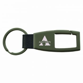 Alcorn State University -Carabiner Key Chain-Gunmetal