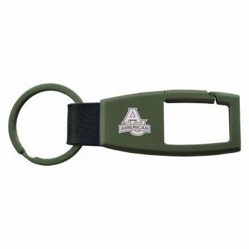 American University -Carabiner Key Chain-Gunmetal