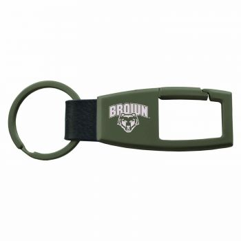 Brown University -Carabiner Key Chain-Gunmetal