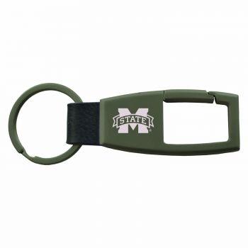 Mississippi State University -Carabiner Key Chain-Gunmetal