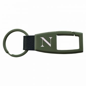 Northeastern University -Carabiner Key Chain-Gunmetal
