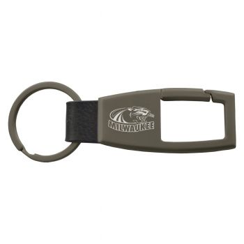 University of Wisconsin-Milwaukee-Carabiner Key Chain-Gunmetal