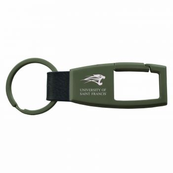 University of Saint Francis-Fort Wayne -Carabiner Key Chain-Gunmetal