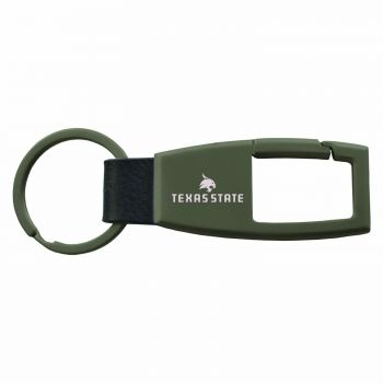 Texas State University -Carabiner Key Chain-Gunmetal
