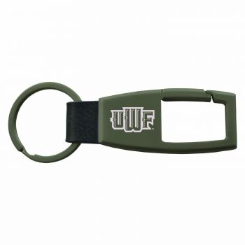 Western Florida University-Carabiner Key Chain-Gunmetal
