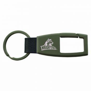 Wright State university -Carabiner Key Chain-Gunmetal