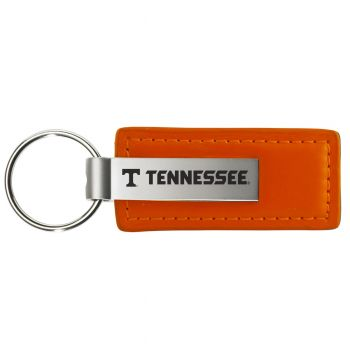 University of Tennessee - Leather and Metal Keychain - Orange
