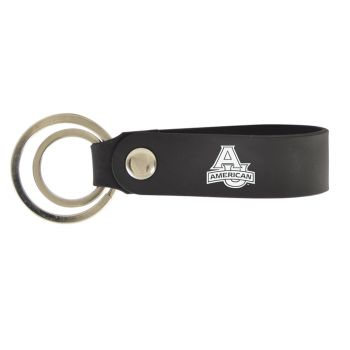 American University-Silicone Snap Key Chain-Black