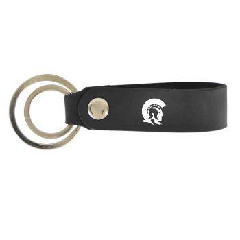 University of Arkansas At Little Rock-Silicone Snap Key Chain-Black