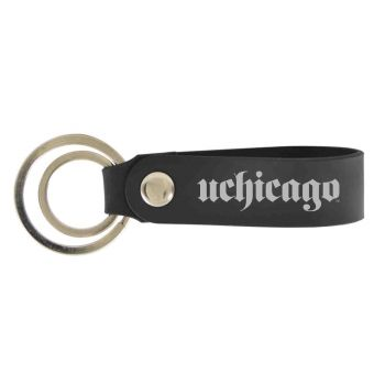 University of Chicago-Silicone Snap Key Chain-Black