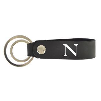Northeastern University-Silicone Snap Key Chain-Black