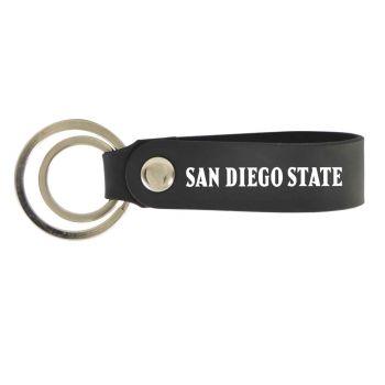 San Diego State University-Silicone Snap Key Chain-Black