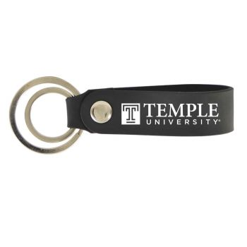 Temple University-Silicone Snap Key Chain-Black