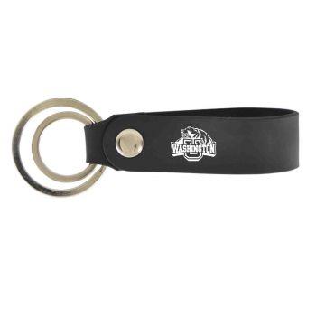 Washington University in St. Louis-Silicone Snap Key Chain-Black