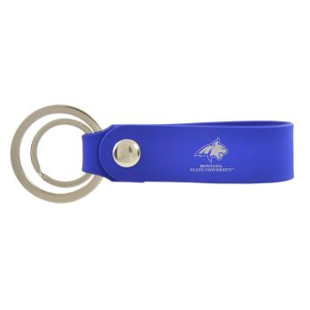 Montana State University-Silicone Snap Key Chain-Blue