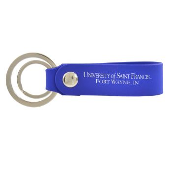 University of Saint Francis-Fort Wayne-Silicone Snap Key Chain-Blue