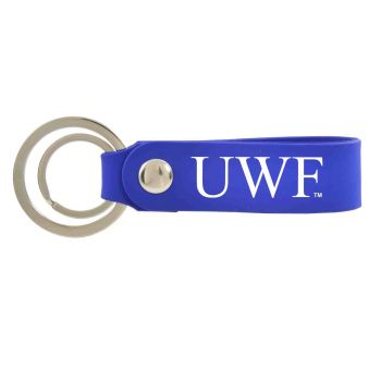 University of West Florida-Silicone Snap Key Chain-Blue