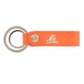 Wright State university -Silicone Snap Key Chain-Orange