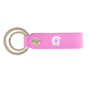 University of Arkansas At Little Rock-Silicone Snap Key Chain-Pink