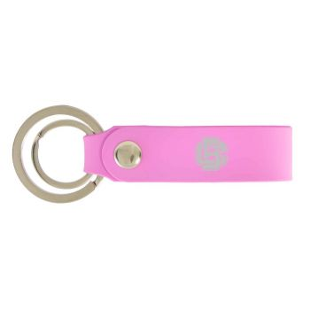 Bethune-Cookman University-Silicone Snap Key Chain-Pink