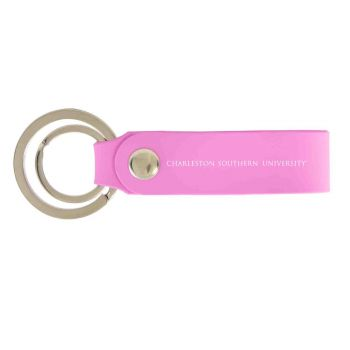 Charleston Southern University-Silicone Snap Key Chain-Pink