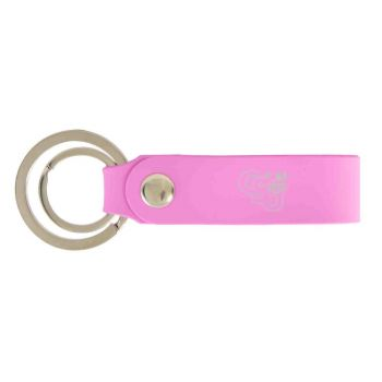 Cleveland State University-Silicone Snap Key Chain-Pink