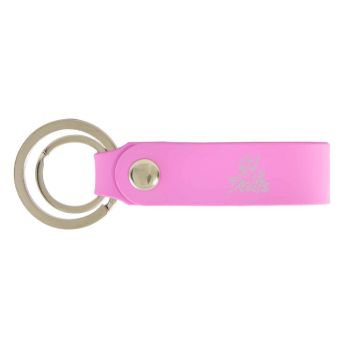 Mississippi Valley State University-Silicone Snap Key Chain-Pink
