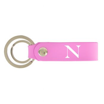 Northeastern University-Silicone Snap Key Chain-Pink