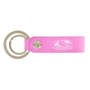 University of Wisconsin-Milwaukee-Silicone Snap Key Chain-Pink
