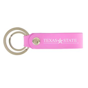 Texas State University-Silicone Snap Key Chain-Pink