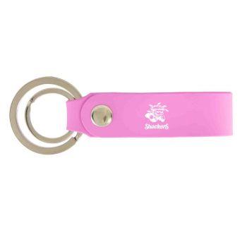 Wichita State University-Silicone Snap Key Chain-Pink