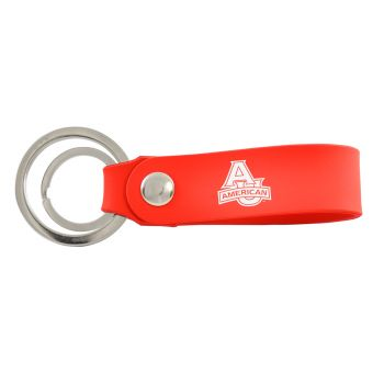 American University-Silicone Snap Key Chain-Red