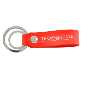 Texas State University-Silicone Snap Key Chain-Red