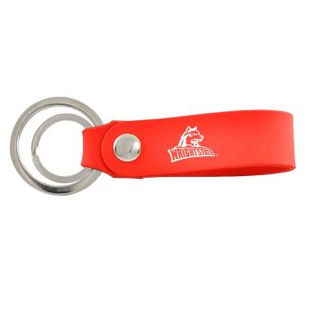Wright State university -Silicone Snap Key Chain-Red