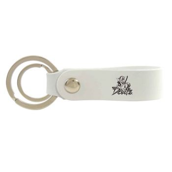 Mississippi Valley State University-Silicone Snap Key Chain-White
