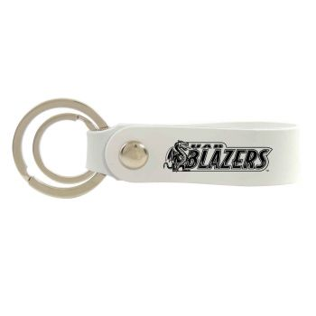 University of Alabama at Birmingham-Silicone Snap Key Chain-White