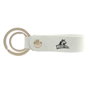Wright State university -Silicone Snap Key Chain-White