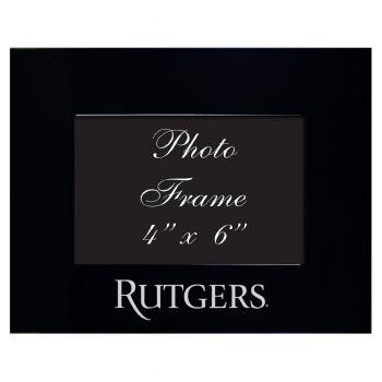 Rutgers University - 4x6 Brushed Metal Picture Frame - Black