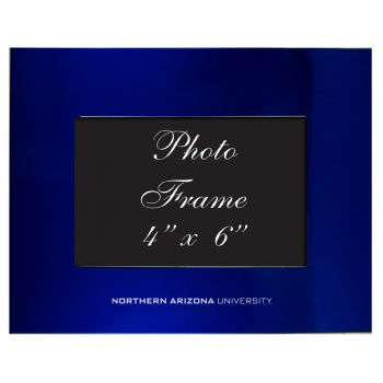 Northern Arizona University - 4x6 Brushed Metal Picture Frame - Blue