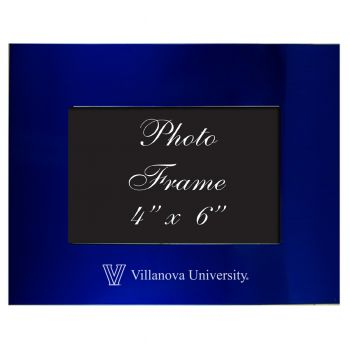 Villanova University - 4x6 Brushed Metal Picture Frame - Blue