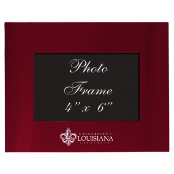 University of Louisiana at Lafayette - 4x6 Brushed Metal Picture Frame - Burgundy