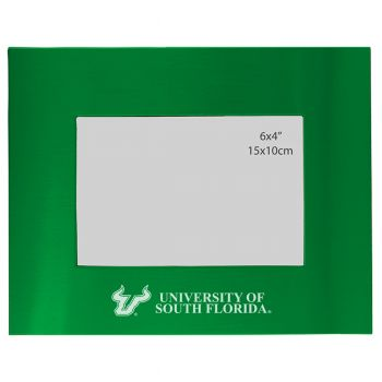 University of South Florida - 4x6 Brushed Metal Picture Frame - Green