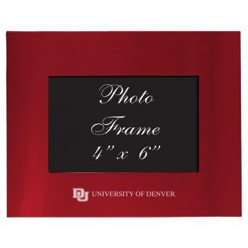 University of Denver - 4x6 Brushed Metal Picture Frame - Red