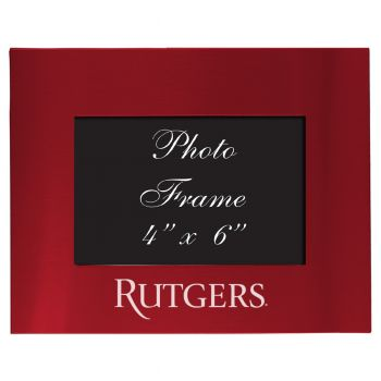 Rutgers University - 4x6 Brushed Metal Picture Frame - Red